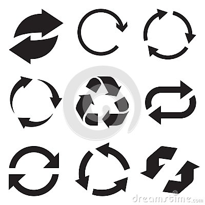 Free Circle Arrow Icon. Refresh And Reload Arrow Icon. Rotation Vector Arrows Set. Vector Illustartion Stock Images - 108040864