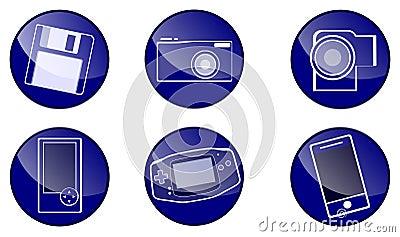 Circle blue icons