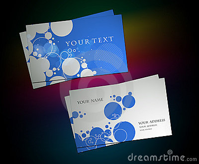 Circle business card set