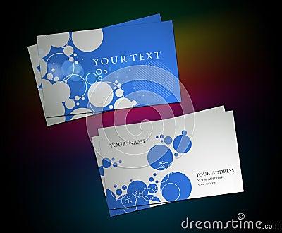 Circle business card set