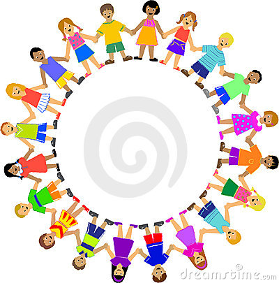 CIRCLE OF CHILDREN HOLDING HANDS (click image to zoom)