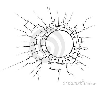 Circle crack