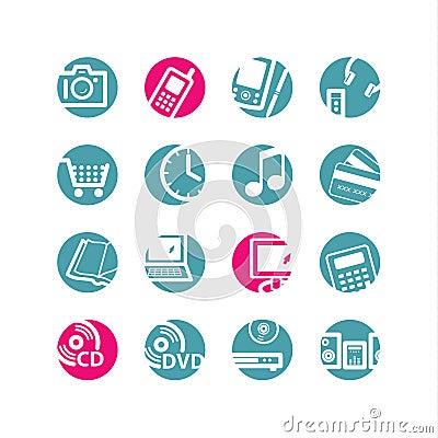 Free Circle E-shop Icons Royalty Free Stock Image - 2769826