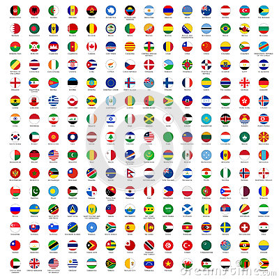 Free Circle Flags Of The World Stock Image - 25535011
