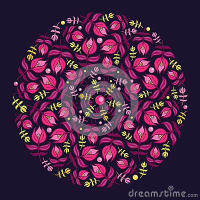 Circle floral illustration