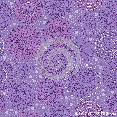Circle Flower Group Seamless Pattern_eps