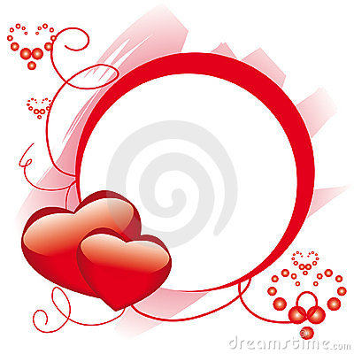 Free Circle Frame With Hearts Stock Images - 7800964