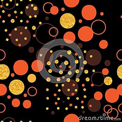 Free Circle Gold Glitter Dark Don&x27;t Care Seamless Pattern Stock Photos - 103079343