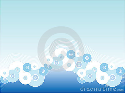 Circle and grid background