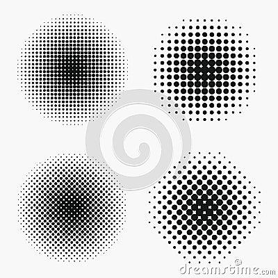 Free Circle Halftone Effects Set. Monochrome Dots Semitone Royalty Free Stock Photo - 106120165