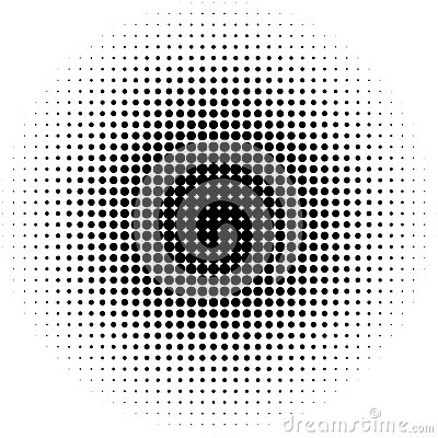 Free Circle Halftone Pattern / Texture. Monochrome Halftone Dots. Royalty Free Stock Photography - 81815727
