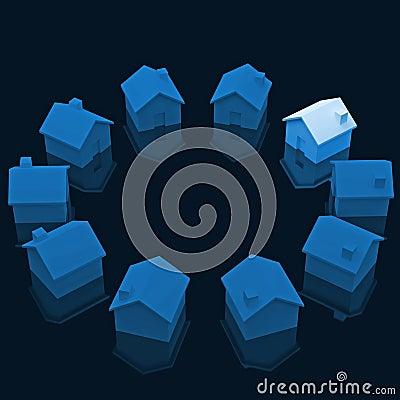 Circle of house