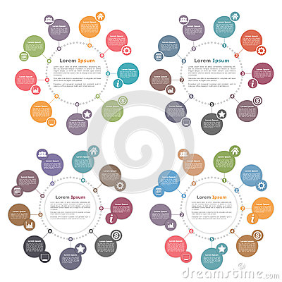 Circle Infographics Stock Vector - Image: 56927986