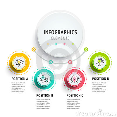 Free Circle Infographics Elements Design. Abstract Business Workflow Royalty Free Stock Images - 88621769
