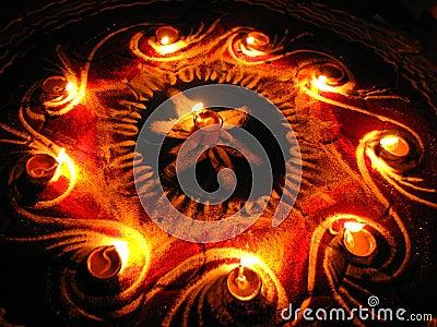 Circle of Lamps