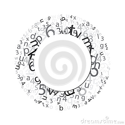 Circle with letters