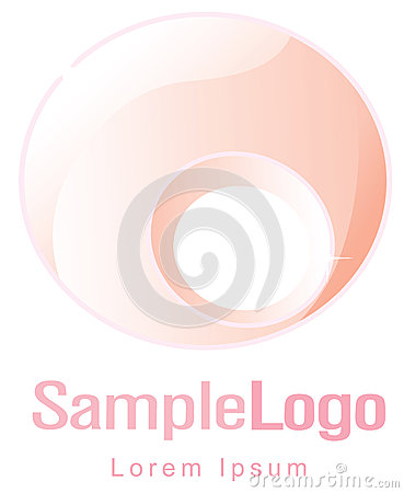 Circle logo for femininity and pregnancy