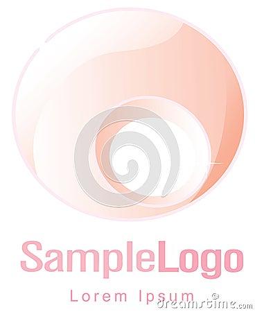 Circle logo for femininity and pregnancy