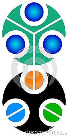 Circle logo set