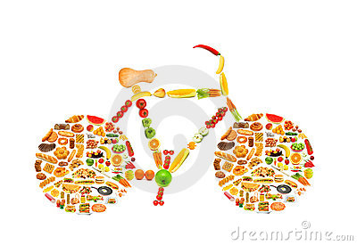 Circle with lots of foods