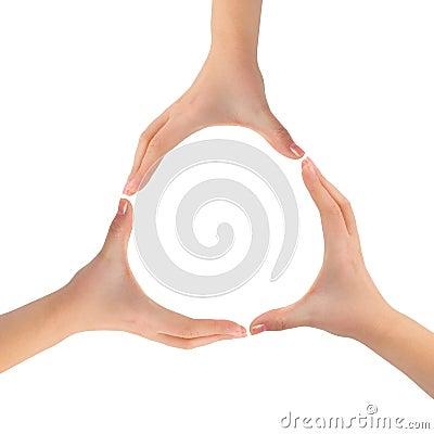 Circle made of hands