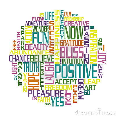 Positive Words Happiness Circle