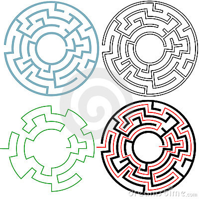 Circle Maze Puzzle 3 Variations Solution