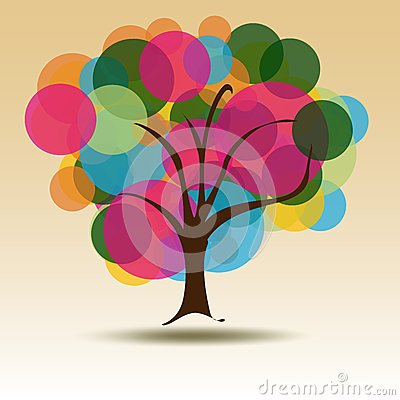 Circle Multicolored tree for Business card