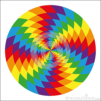 Free Circle Of Abstract Psychedelic Rainbow Royalty Free Stock Photography - 44236207