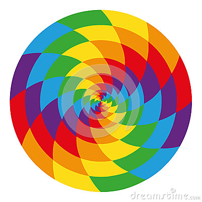 Free Circle Of Abstract Psychedelic Rainbow Stock Image - 44236251