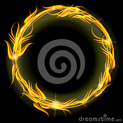 Free Circle Of Fire Royalty Free Stock Image - 27595996