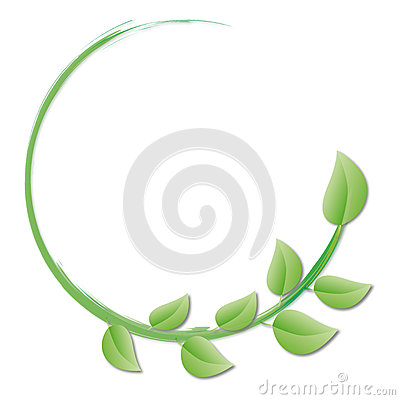 Free Circle Of Green Leaves Stock Photography - 33333572