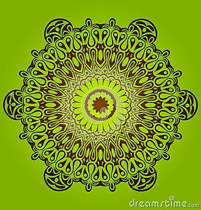 Circle ornament, ornamental round lace.