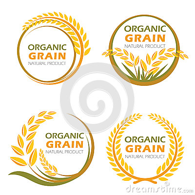 Free Circle Paddy Rice Organic Grain Products And Healthy Food Vector Design Stock Image - 75527961