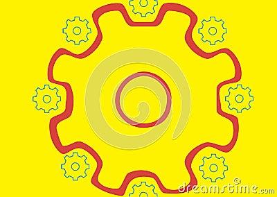 Circle of pinions