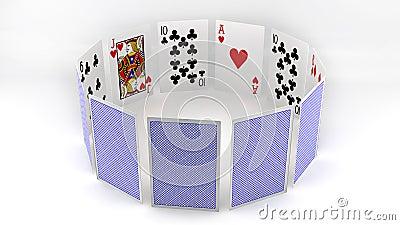 Circle poker cards