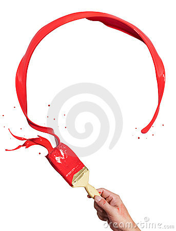 Free Circle Red Paint Splash Stock Photography - 9269142