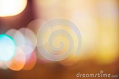 Abstract warm orange bokeh background Stock Photo