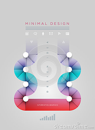 Circle Shape Infographic Design Template. Royalty Free Stock ...