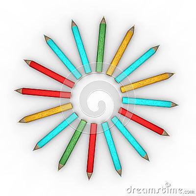 Circle-shape pencils