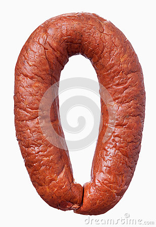 Circle of smoked sausage