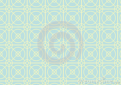 Circle and Square Pattern on Pastel Color