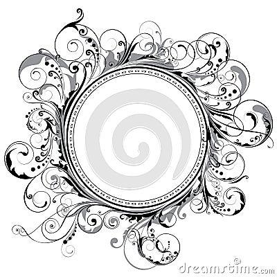 Free Circle Swirl Frame Stock Images - 54988084