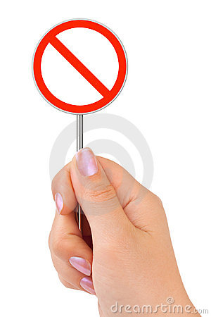 Free Circle Traffic Sign In Hand Stock Image - 15068931