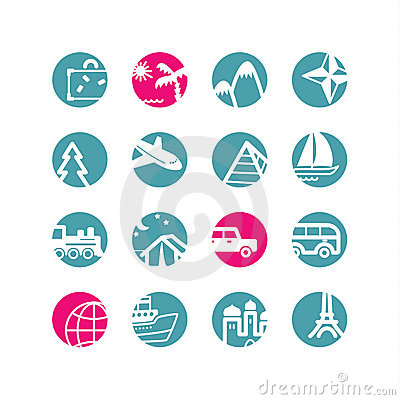 Free Circle Travel Icons Stock Images - 2942864