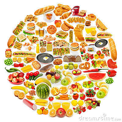 Free Circle With Lots Of Food Stock Photo - 22408390