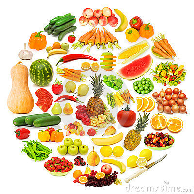 Free Circle With Lots Of Food Stock Photo - 23498530