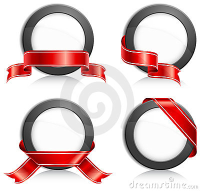 Free Circle With Ribbon Royalty Free Stock Image - 15086536