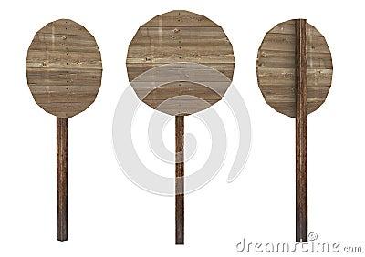 Circle wood board