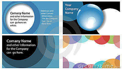 Circles Abstract Company Business Card 4 Up